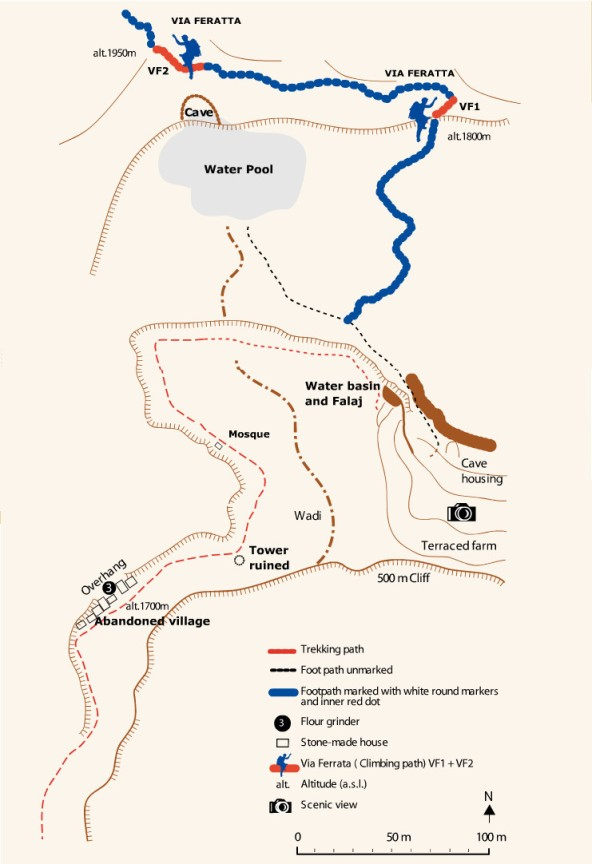 topo ferrata (guide Oman)