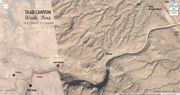 topo d'accès au canyon