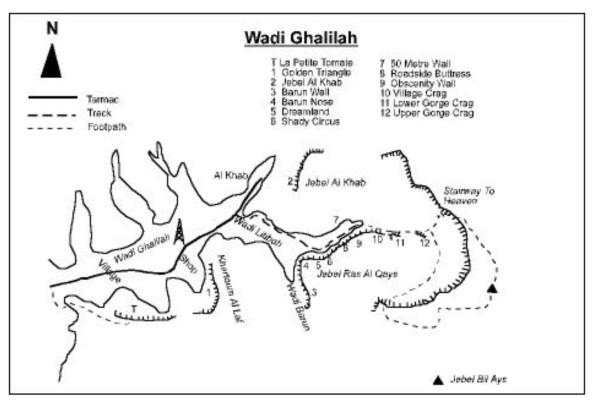 1. accès wadi Litibah (Stark topo)