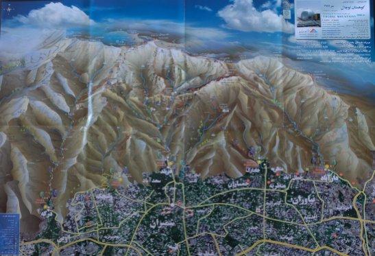 Carte des treks du Tochal
